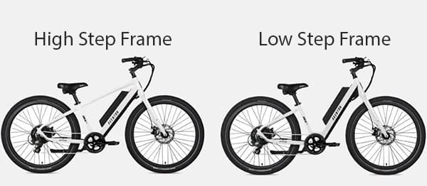 High step vs low step ebike frame